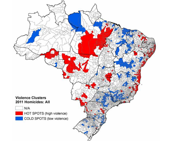 Mapping Brazil's Homicides at the Micro Level