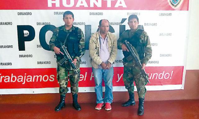 Alleged Peru drug trafficker Filemon Huillcayaure