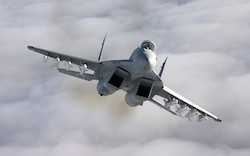 An MiG-29 fighter plane