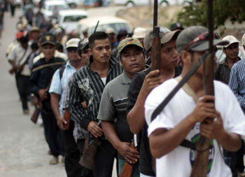 Militia members in Mexico