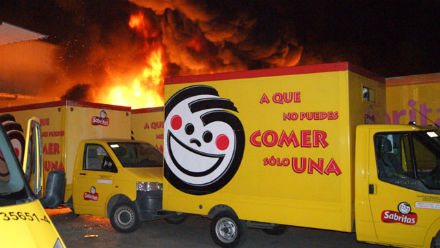 Pepsico trucks torched by criminals