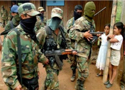 Members of Colombian guerrilla group the FARC