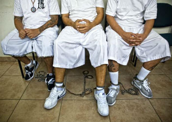 Gang members wearing Nike shoes