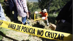Police investigation in El Salvador