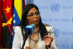 Minister Denies Venezuela Has a Drug Problem at UN Assembly
