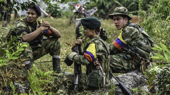 FARC fighters are waiting to enter the peace concentration zones