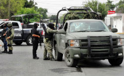Security forces in Tamaulipas