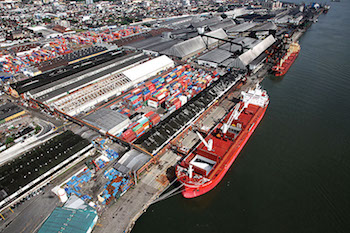 The port of Santos, Brazil