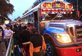 Public transport is a target of extortion in Guatemala.