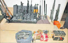 Arms seized in the Asuncion raid