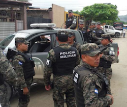 Military police deployed to Reparto Lempira