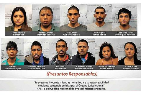 The 13 suspects detained in the Segmex operation
