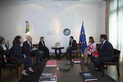 Mexican and EU officials attend the Second Mexico-European Union Public Security and Law Enforcement Dialogue