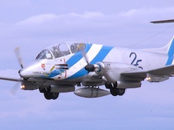 A Pucará fighter from Argentina's diminished air force.