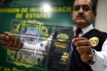 Peru's police seized the greatest amount of counterfeit dollars in the country's history.