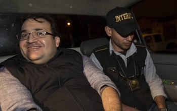 Former Mexico Gov. Javier Duarte after his arrest in Guatemala in April 2017