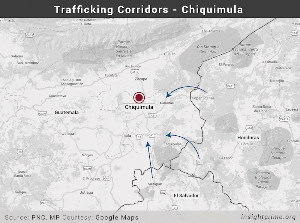 Map-2-Trafficking Corridors - Chiquimula