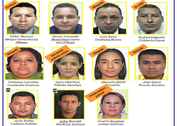 Some of the captured individuals in El Salvador