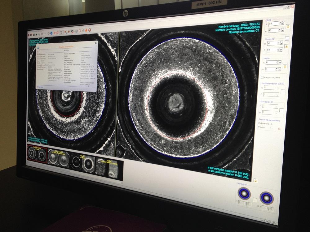 2017-22-08-Honduras-IBIS-Computer-Bullet-Fingerprint