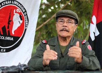 "Nicolás Rodríguez Bautista, alias ""Gabino,"" leader of the ELN"
