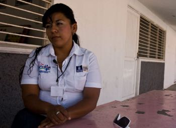 Mirna Cartagena, who did 8 years in jail for drug trafficking, during a 2012 interview with the author