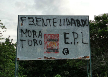 EPL graffitis in Colombia's Catatumbo region