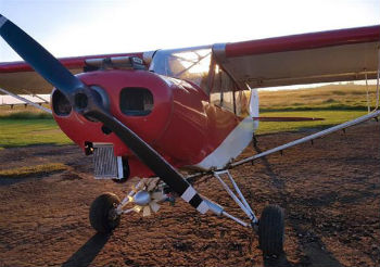 A drug plane seized during the raid in Argentina