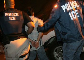 ICE agents deport an alleged gang member
