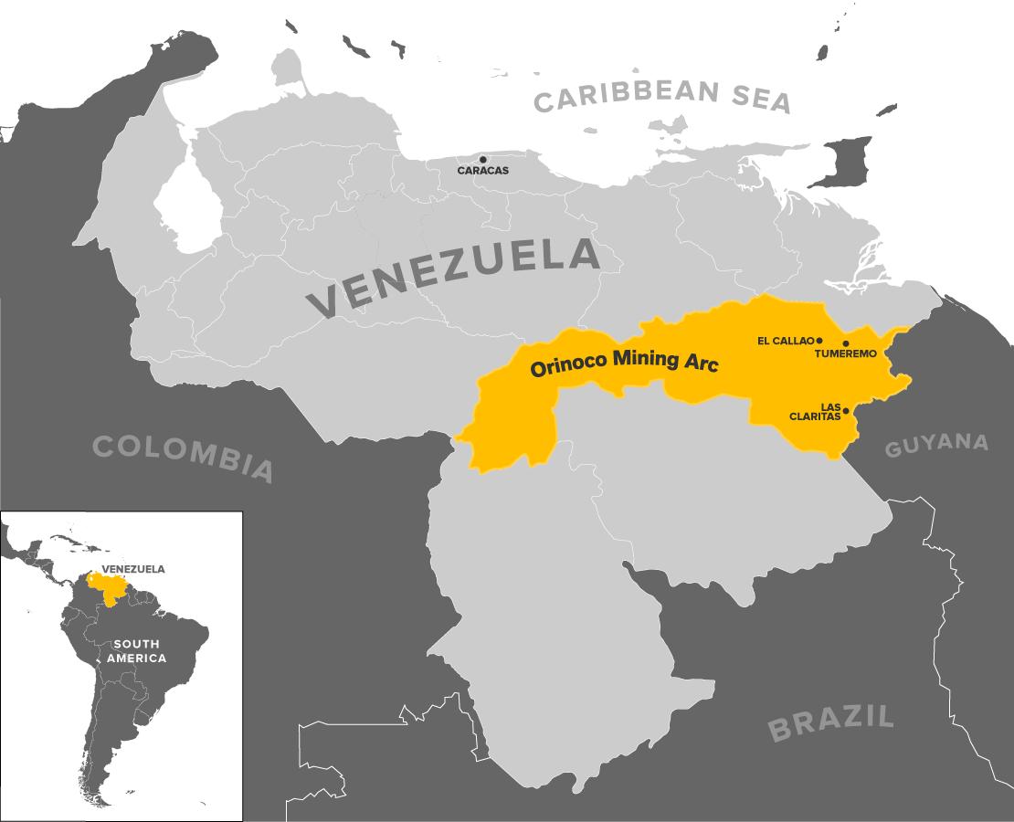 Gold And Chaos Gang Lords Rule Venezuelas Orinoco Mining Arc - Honduras mineral map non metallic