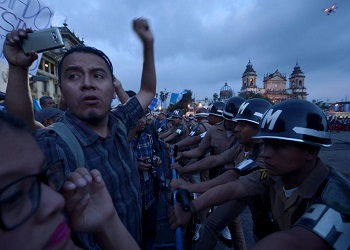 Protestors in Guatemala