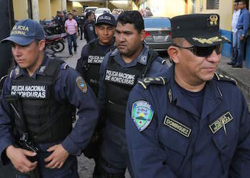 Honduras National Police officers