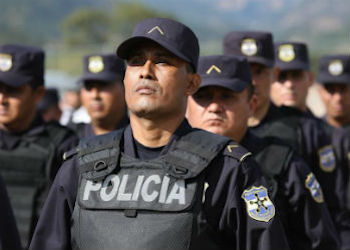 Members of El Salvador's police