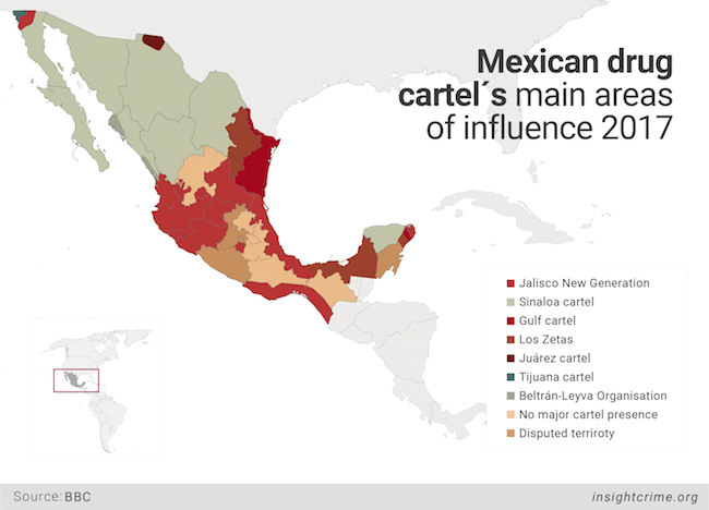 28-09-17-Mexican drug cartels main areas of influence 2017-InSight Crime-Map-01 1