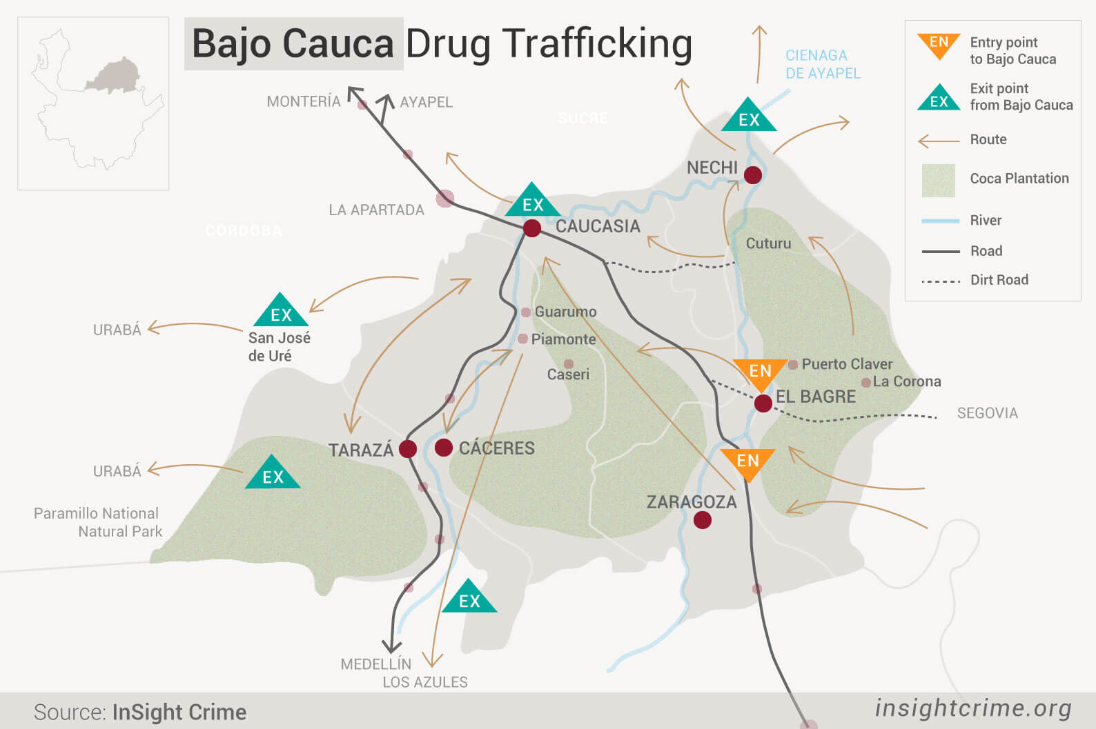 BAJO-CAUCA--DRUG-TRAFF-MAP