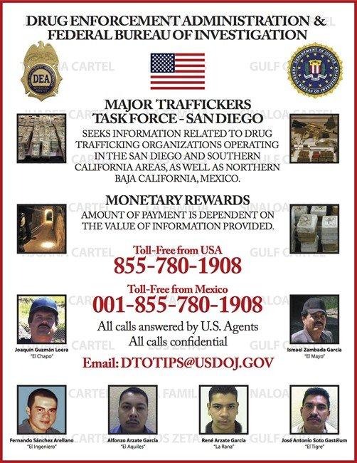 DEA most wanted drug traffickers san diego tijuana t670