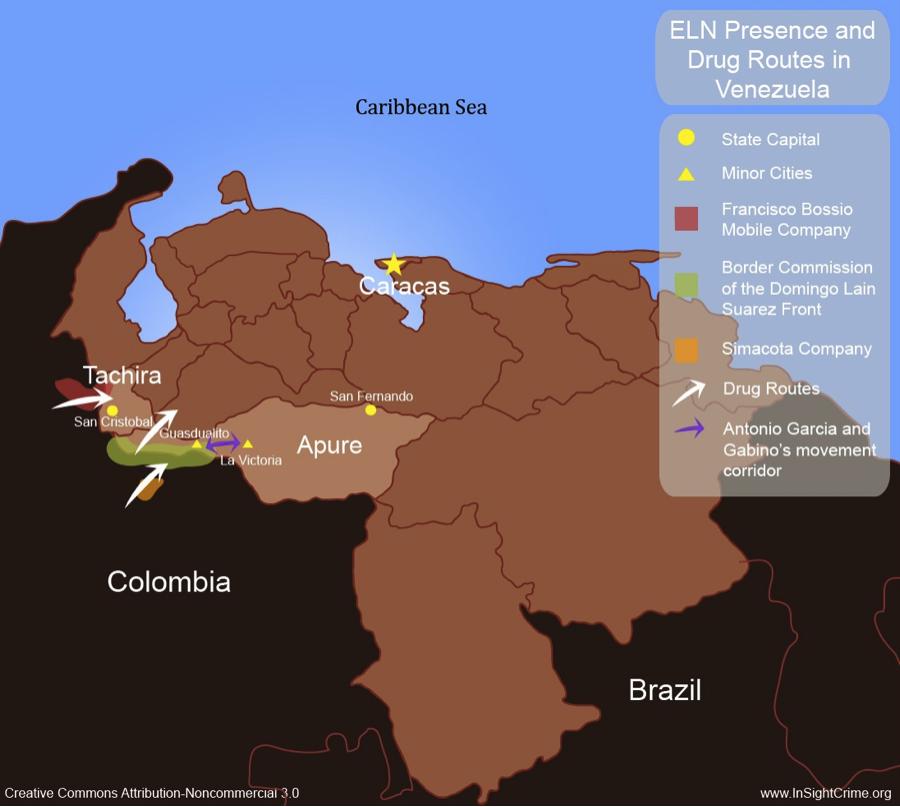 ELN Venezuela map