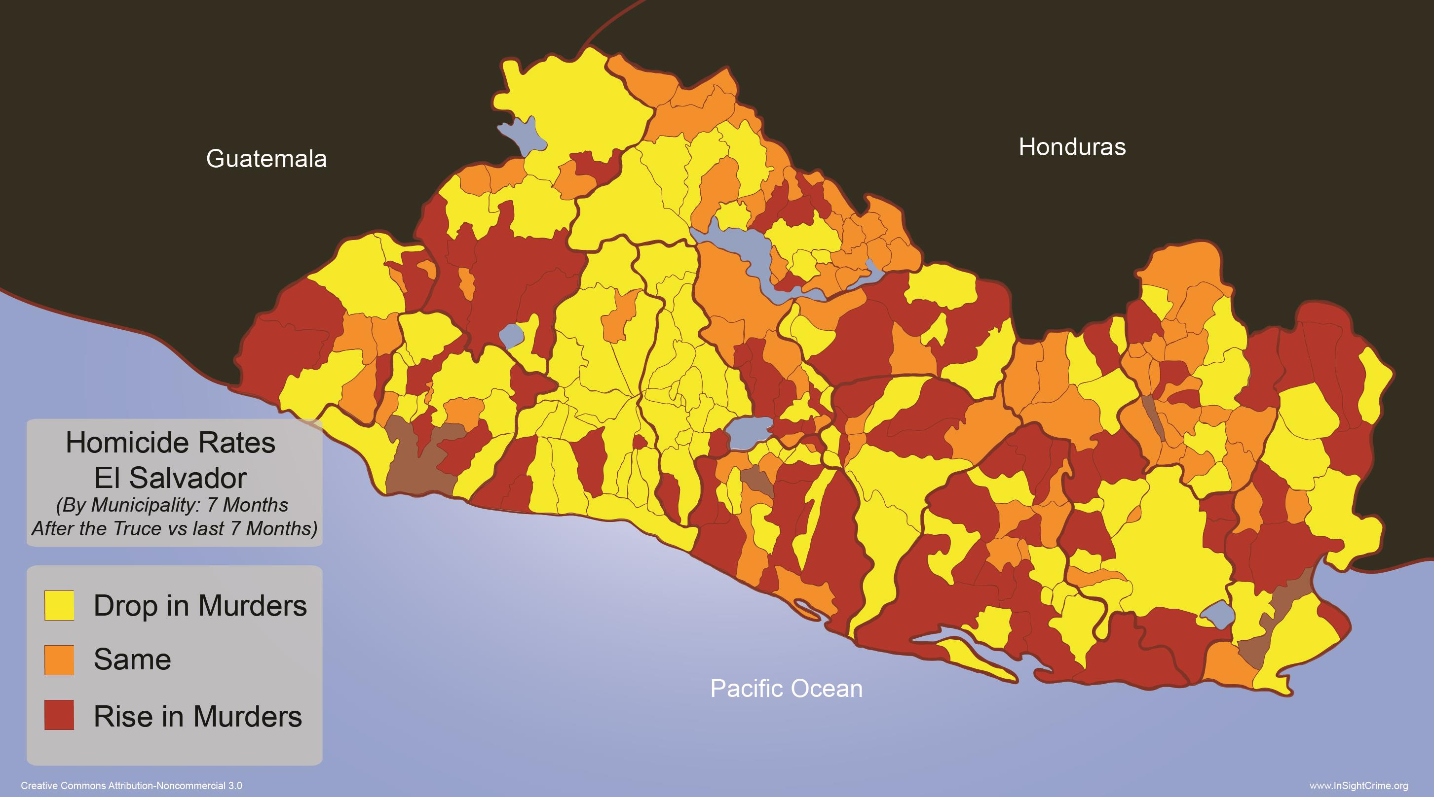 El Salvador - Homicide Rates by Municipality 2