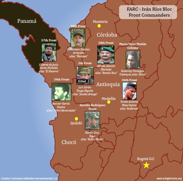 FARC-Ivan Rios Bloc Front Leaders