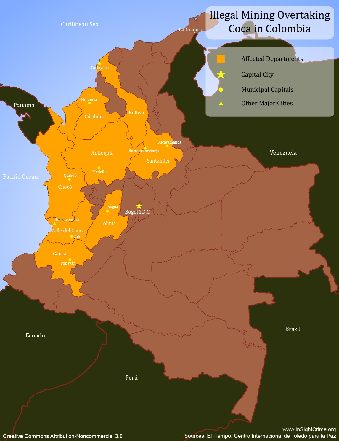 Illegal Mining Overtaking Coca in Colombia