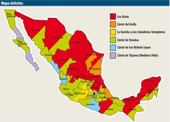 Have the Zetas Replaced the Sinaloa as Mexicos Most Powerful Cartel – Map of Mexico Sinaloa