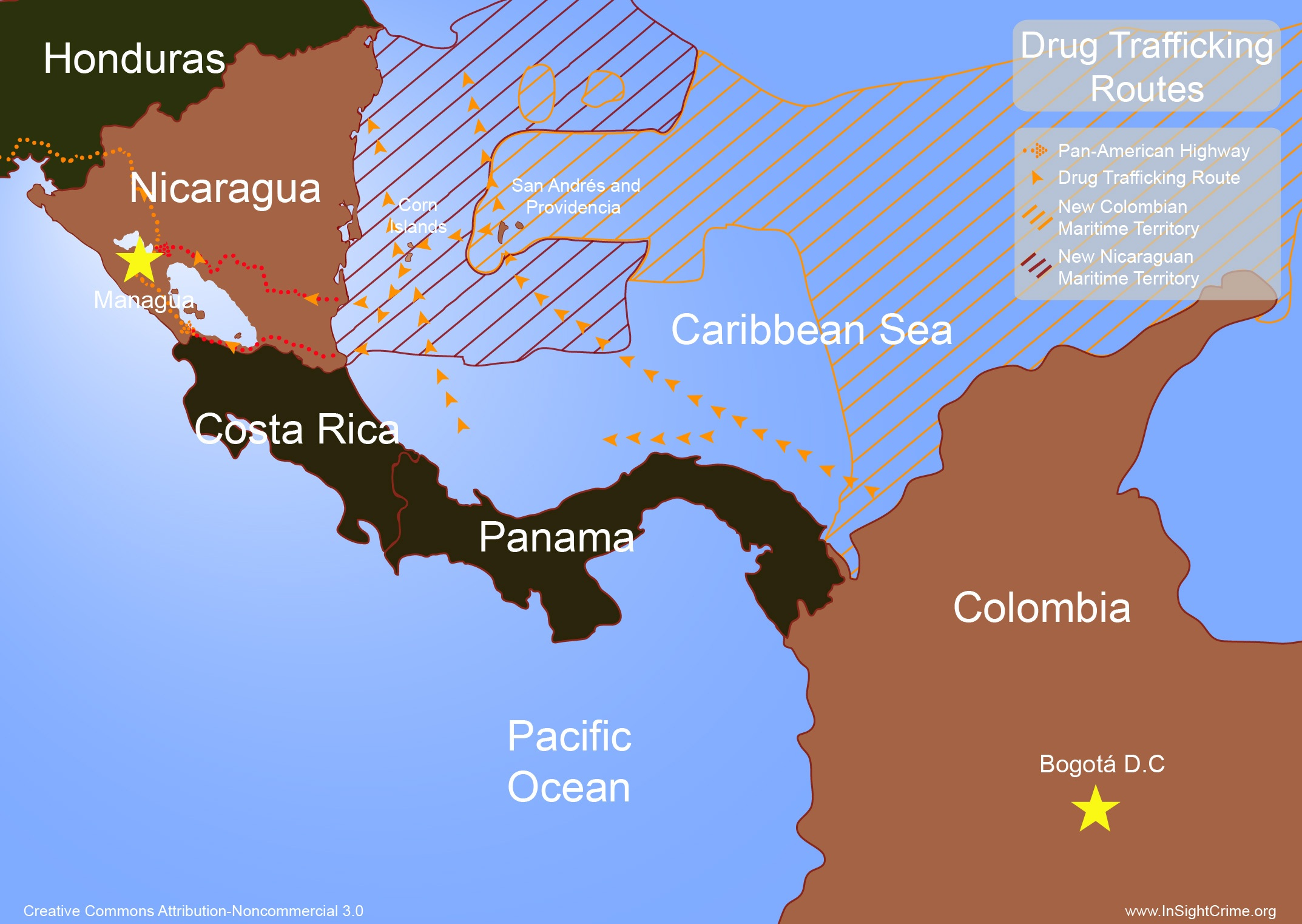 Nicaragua - Colombia Drug Routes
