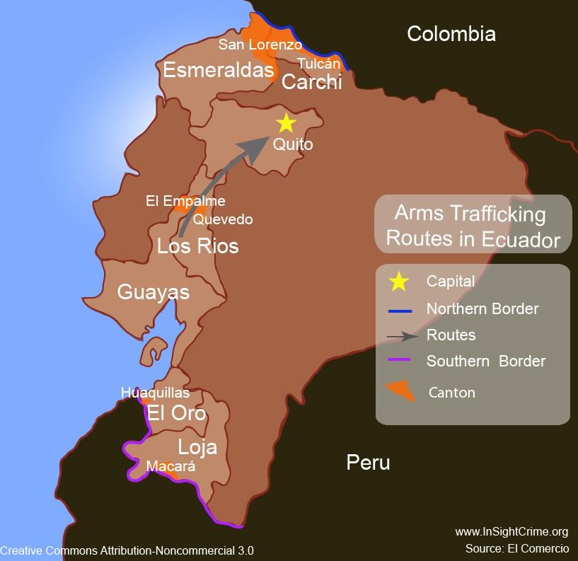 Tráfico de armas Ecuador