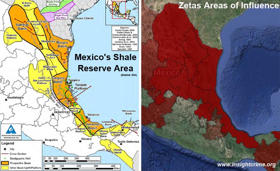 mexico shale area zetas