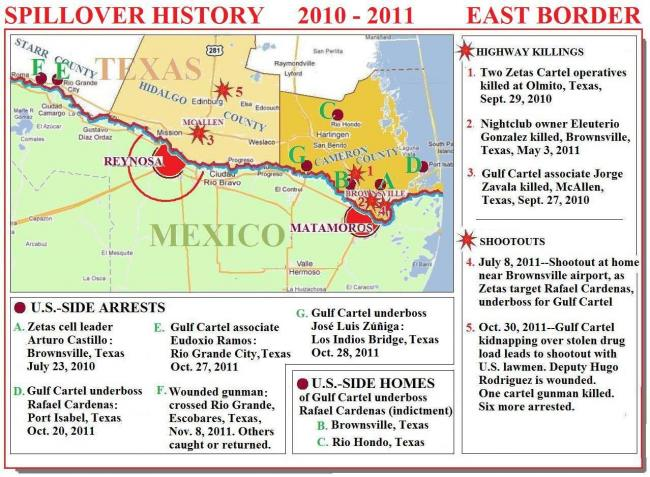 The Map Above Suggests Why Law Enforcement Officials Are Nervous In South Texas Spillover From Mexico S Violence Has Been Happening There For Some Time