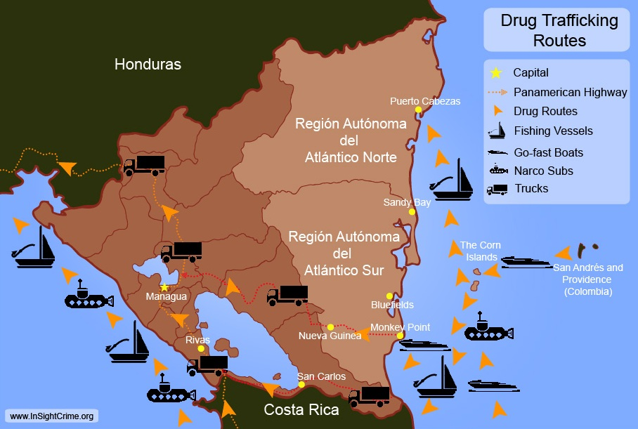Nicaragua_-_Drug_Routes