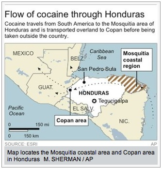 honduras_cocaine_map