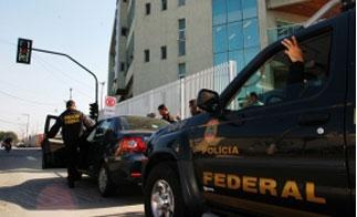 Brazilian Federal Police on patrol