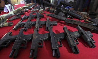 Guns seized in Caracas, Venezuela