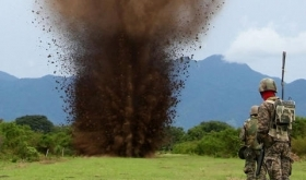Honduran military destroy a clandestine airstrip
