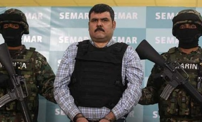 "Gulf Cartel boss ""El Coss"" after his capture"